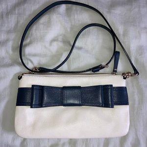 2/$100🤩Kate Spade White/Navy bow crossbody purse